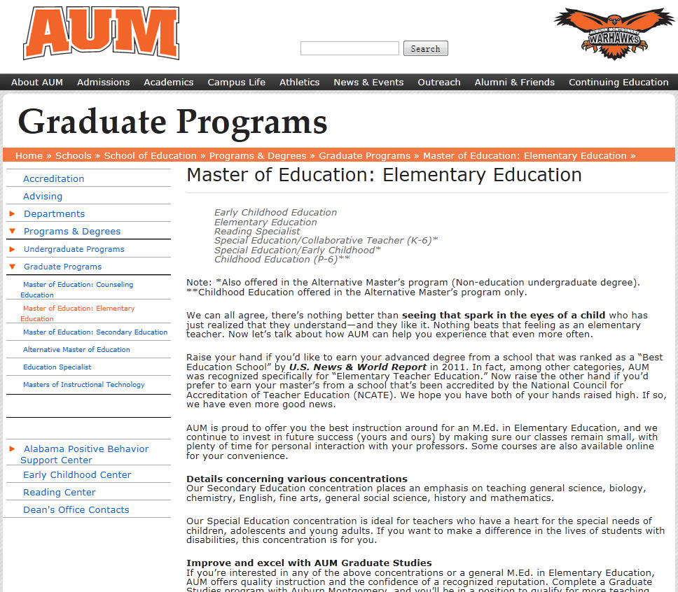 Auburn University Montgomery School of Education