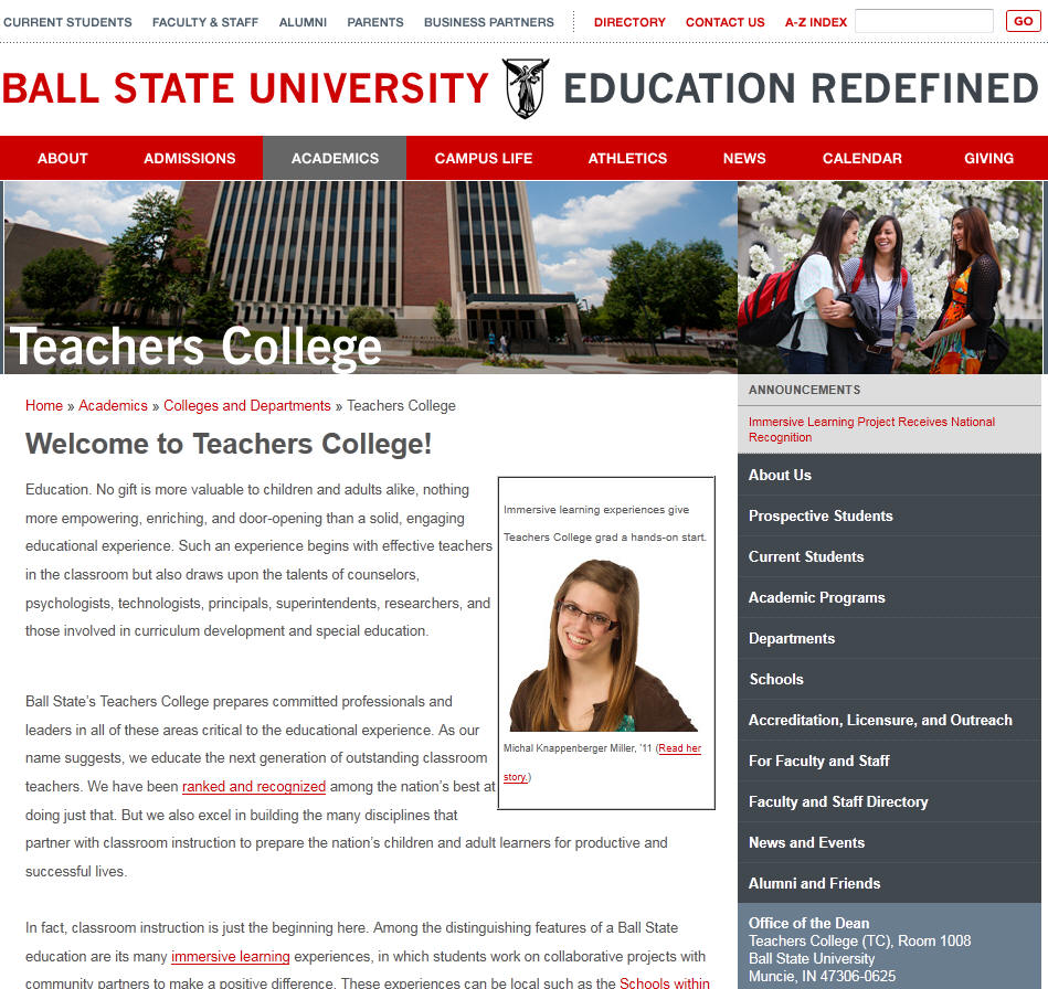 Ball State University Teachers College