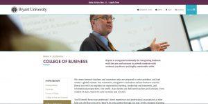 Bryant University Undergraduate Business