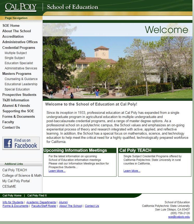 California Polytechnic State University–San Luis Obispo School of Education