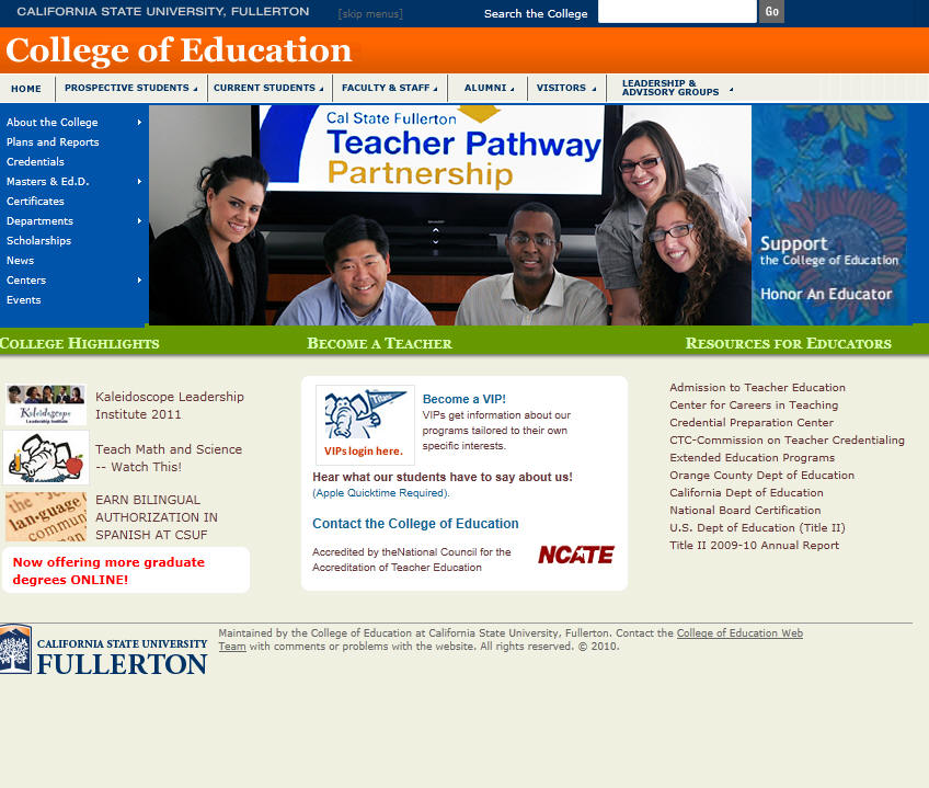 California State University Fullerton College of Education