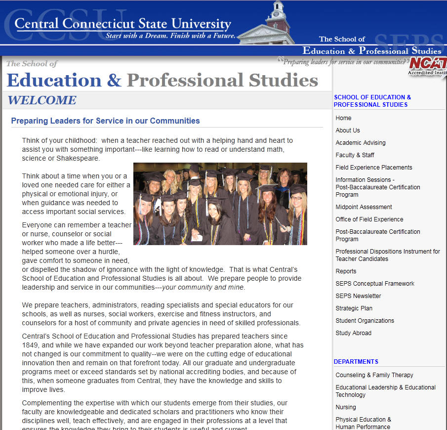 Central Connecticut State University School of Education and Professional Studies
