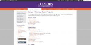 Clemson University Undergraduate Business