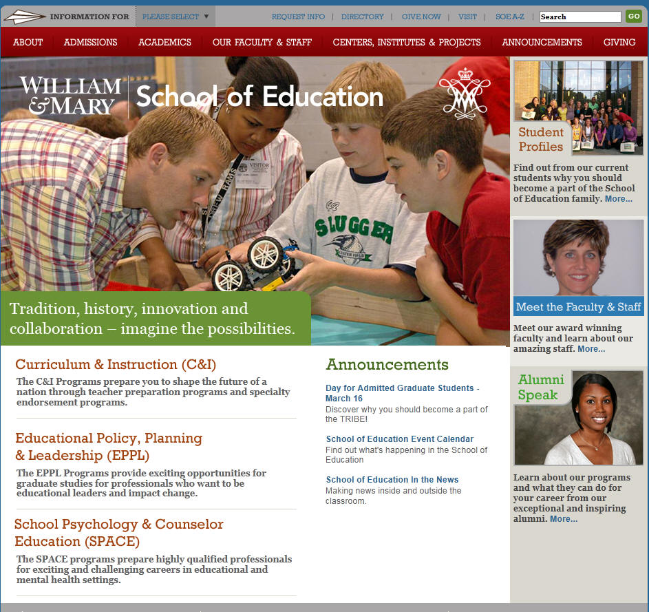 College of William Mary School of Education
