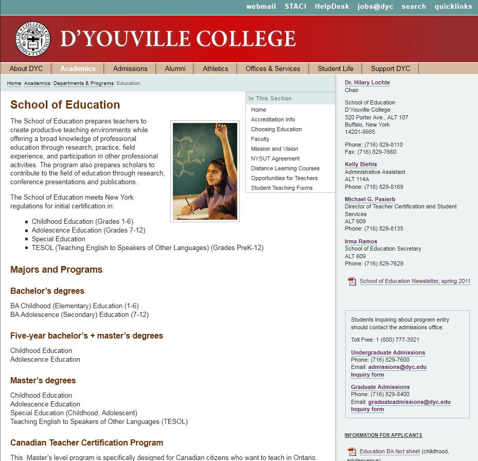 DYouville College School of Education