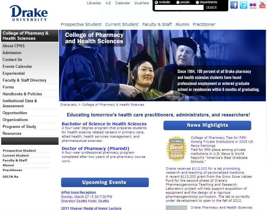 Drake University College of Pharmacy and Health Sciences