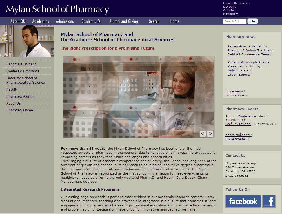 Duquesne University Mylan School of Pharmacy