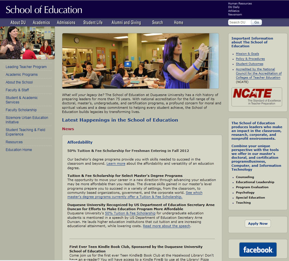 Duquesne University School of Education