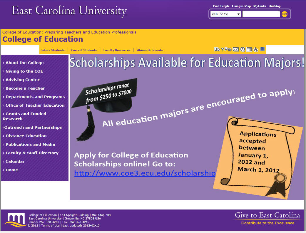 East Carolina University College of Education
