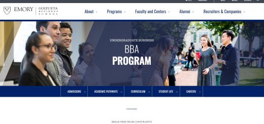 Emory University Undergraduate Business