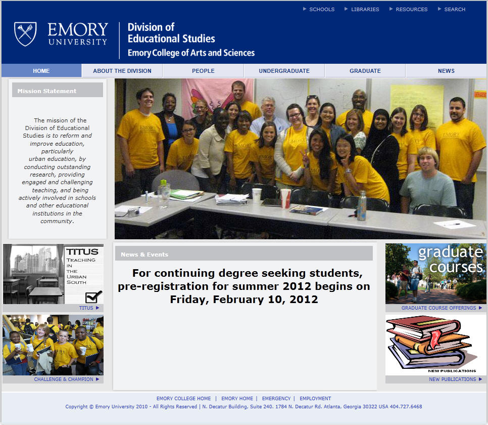Emory University Division of Educational Studies
