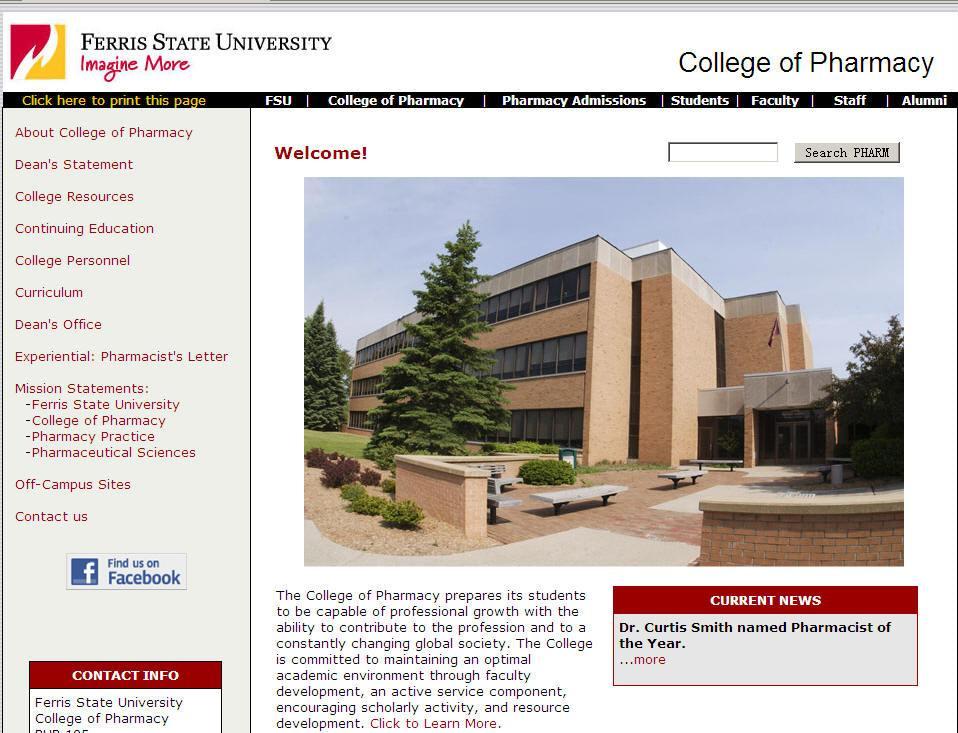 Ferris State University College of Pharmacy