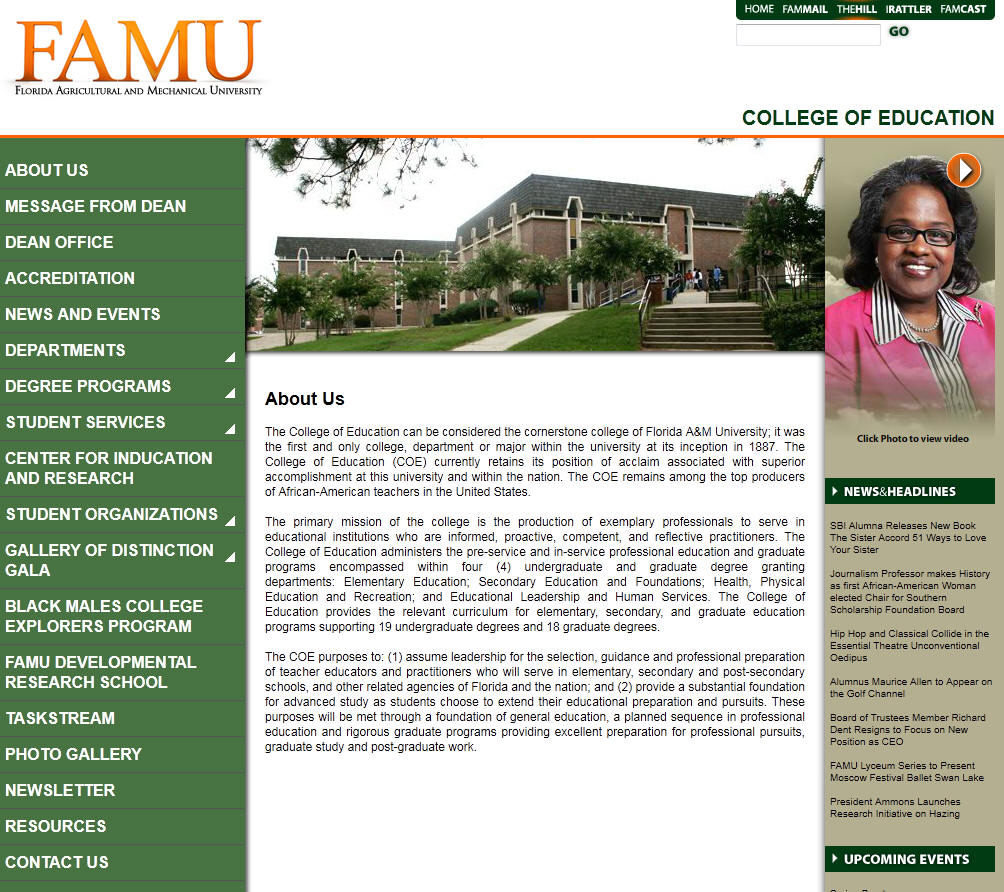 Florida A M University College of Education