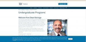 George Washington University Undergraduate Business