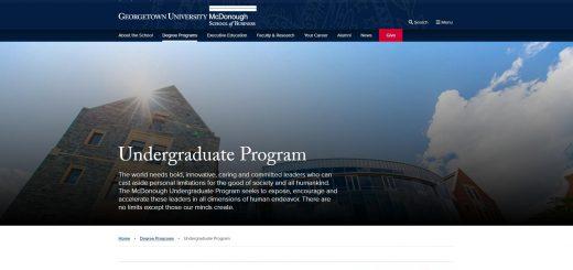 Georgetown University Undergraduate Business