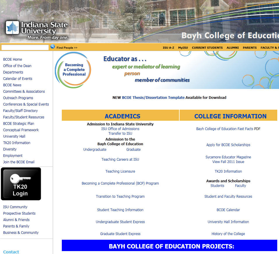Indiana State University Bayh College of Education