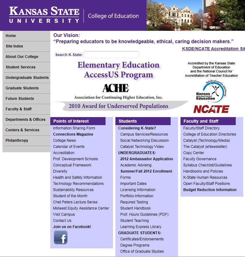 Kansas State University College of Education