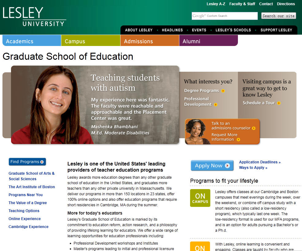 Lesley University Graduate School of Education