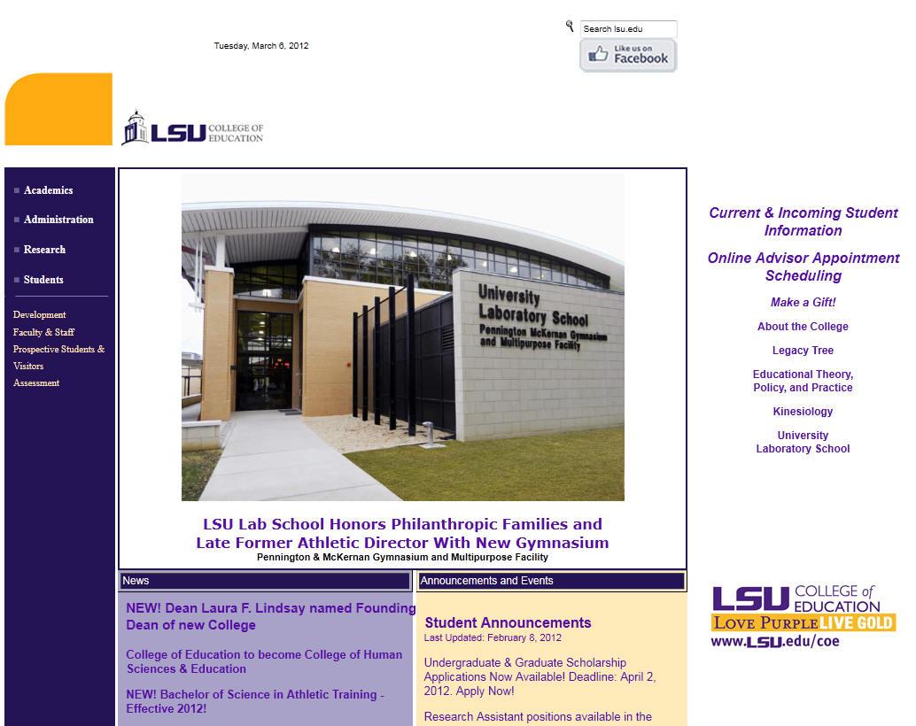 Louisiana State University–Baton Rouge College of Education