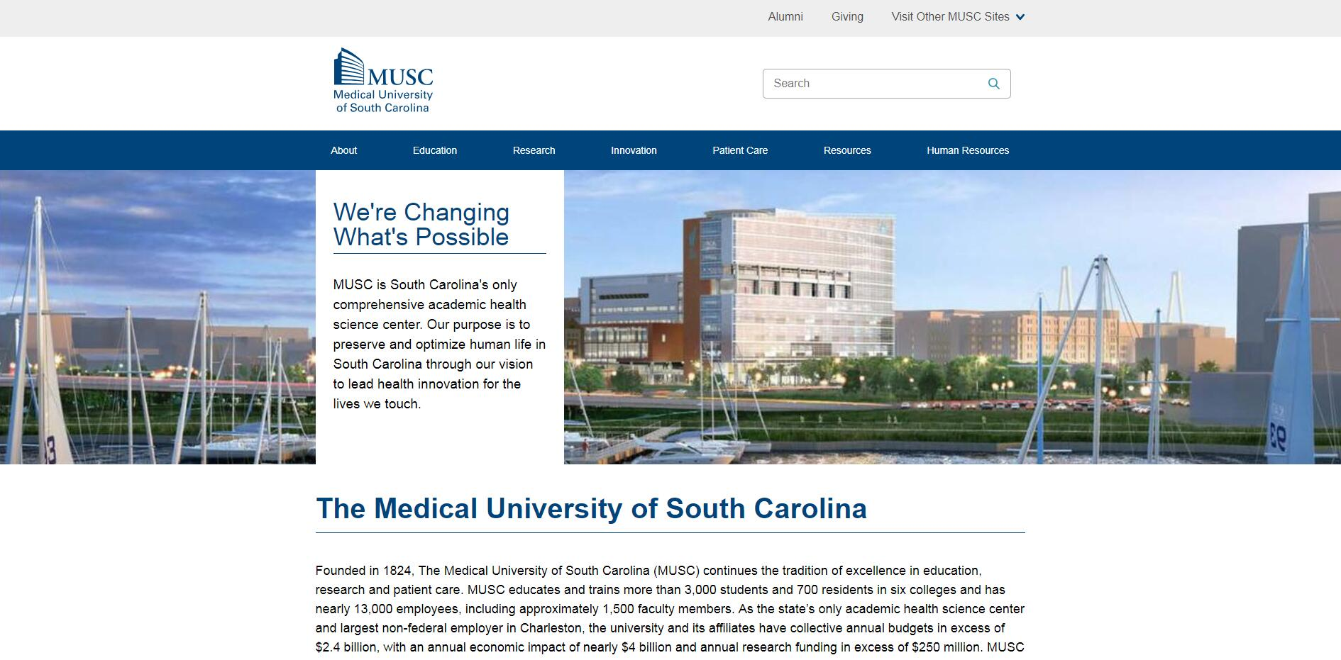 Medical University of South Carolina Admissions Statistics and Rankings