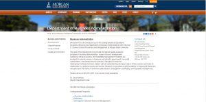 Morgan State University Undergraduate Business