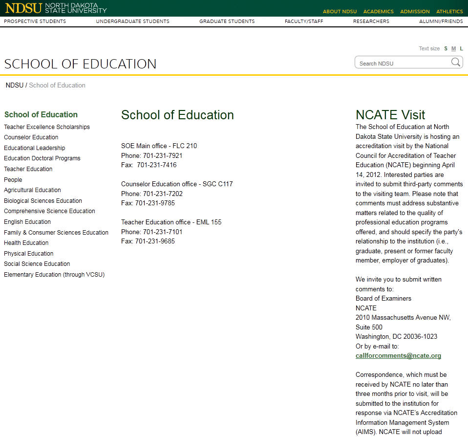 North Dakota State University School of Education