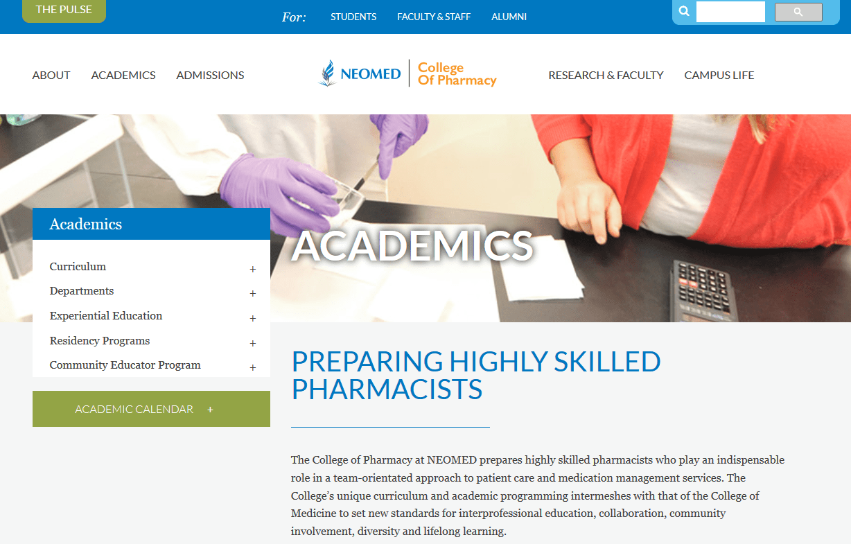 Northeast Ohio Medical University College of Pharmacy