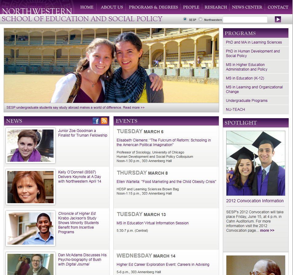 Northwestern University School of Education Social Policy