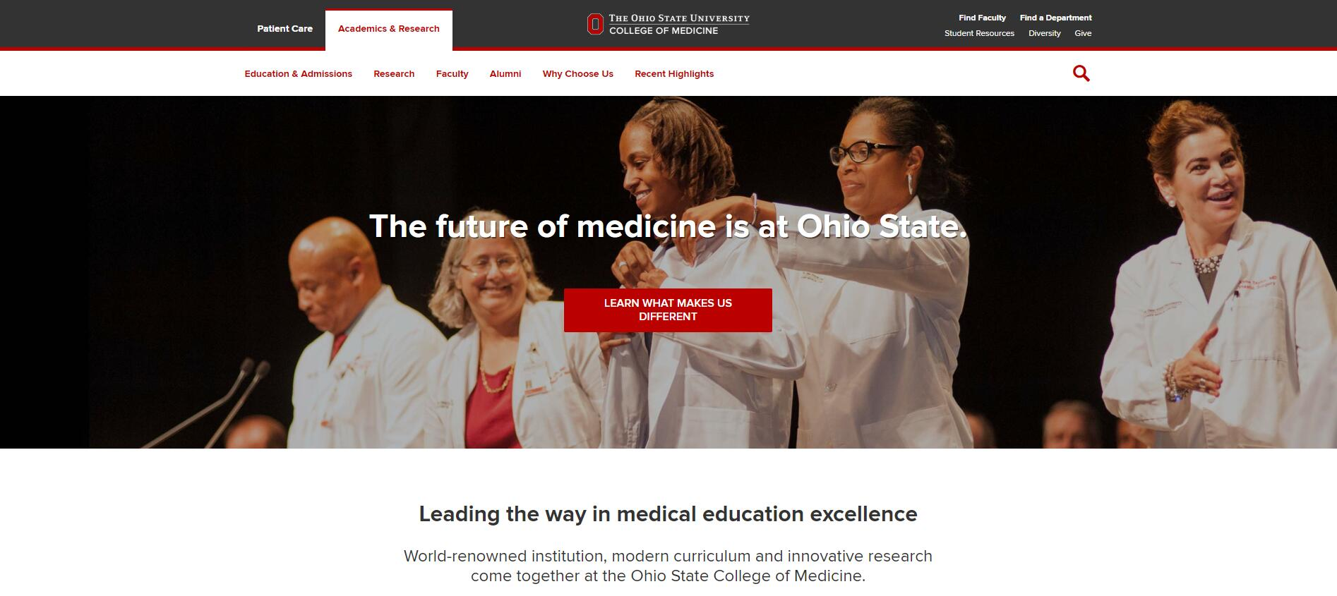 Ohio State University College of Medicine Admissions Statistics and Rankings