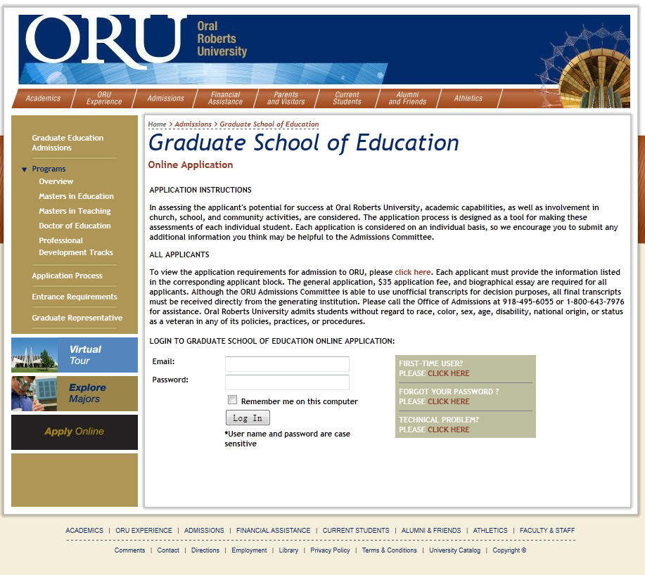 Oral Roberts University College of Education