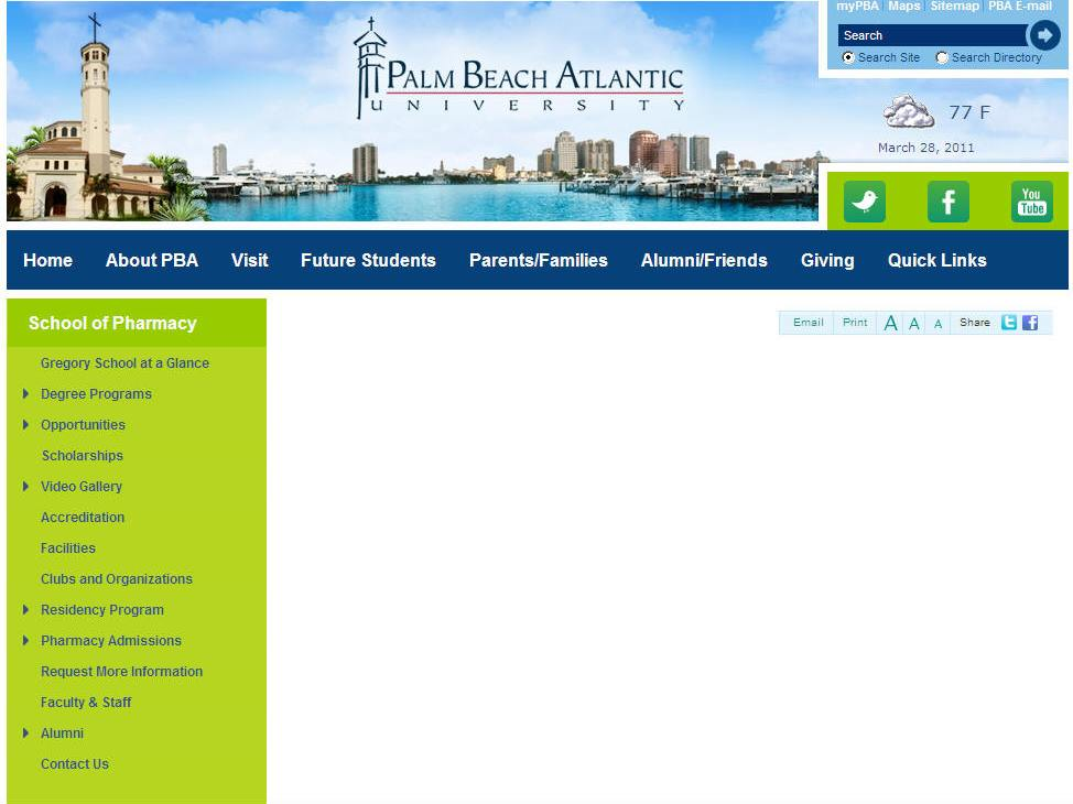 Palm Beach Atlantic University Lloyd L Gregory School of Pharmacy