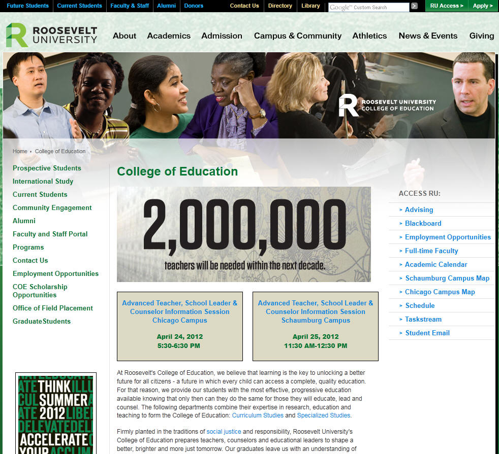 Roosevelt University College of Education