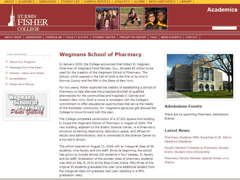 St John Fisher College Wegmans School of Pharmacy