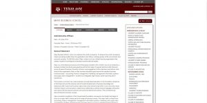 Texas A&M University-College Station Undergraduate Business