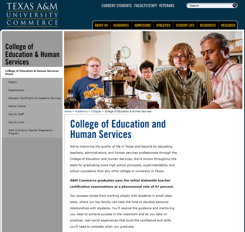 Texas AM University Commerce College of Education and Human Services
