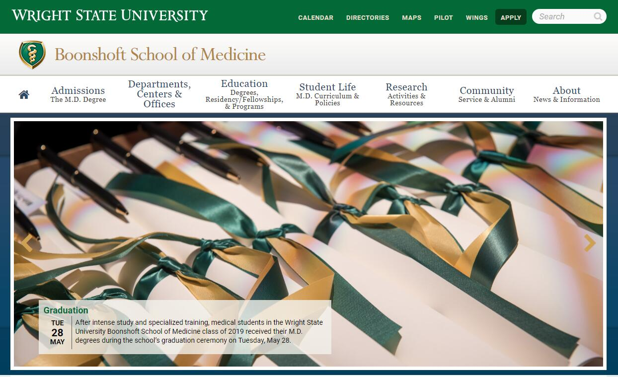 The Boonshoft School of Medicine at Wright State University Admissions Statistics and Rankings