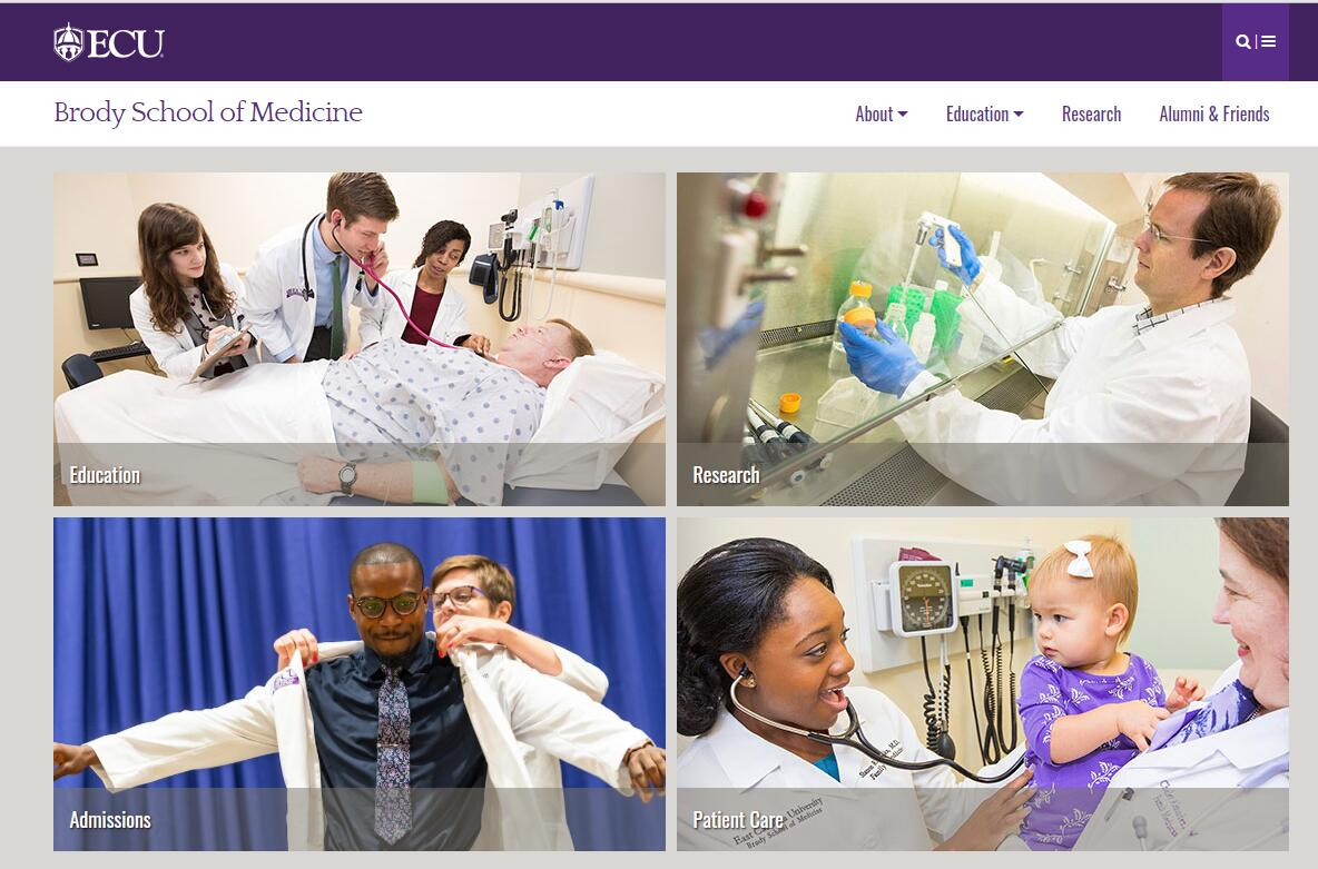 The Brody School of Medicine at East Carolina University Admissions Statistics and Rankings
