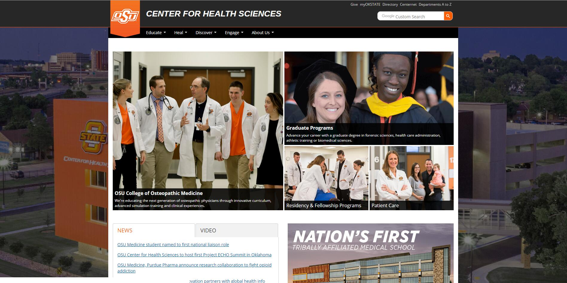 The Center for Health Sciences at Oklahoma State University Admissions Statistics and Rankings