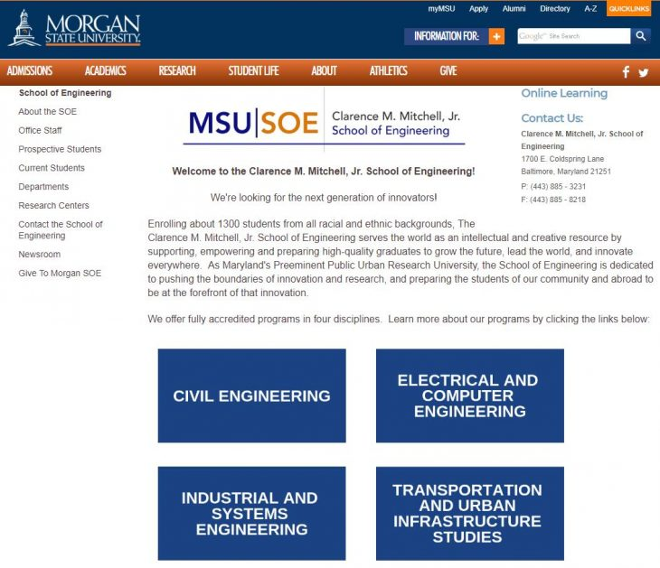 The Clarence M. Mitchell School of Engineering at Morgan State University