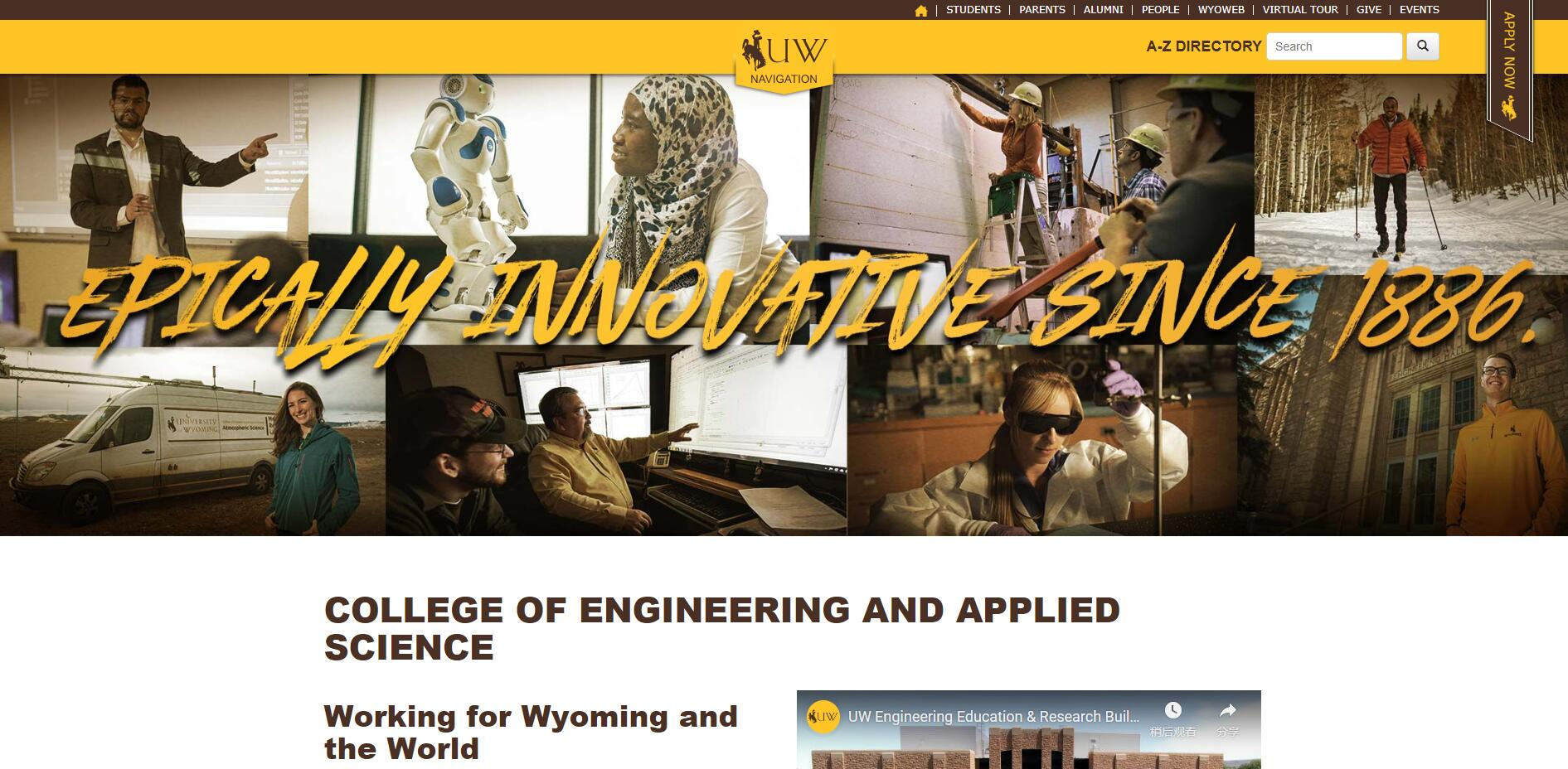 The College of Engineering and Applied Science at University of Wyoming