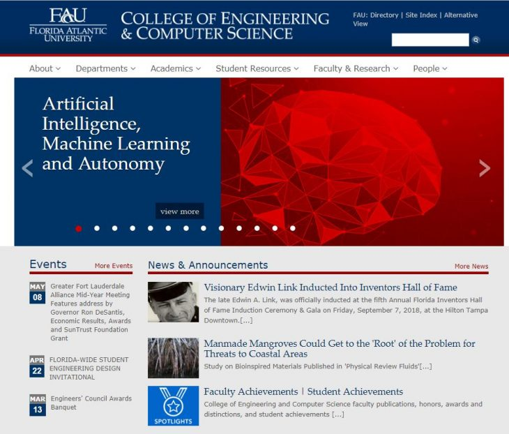 The College of Engineering and Computer Science at Florida Atlantic University