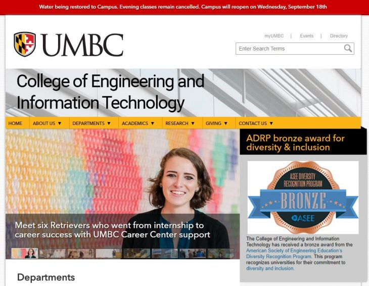The College of Engineering and Information Technology at University of Maryland--Baltimore County