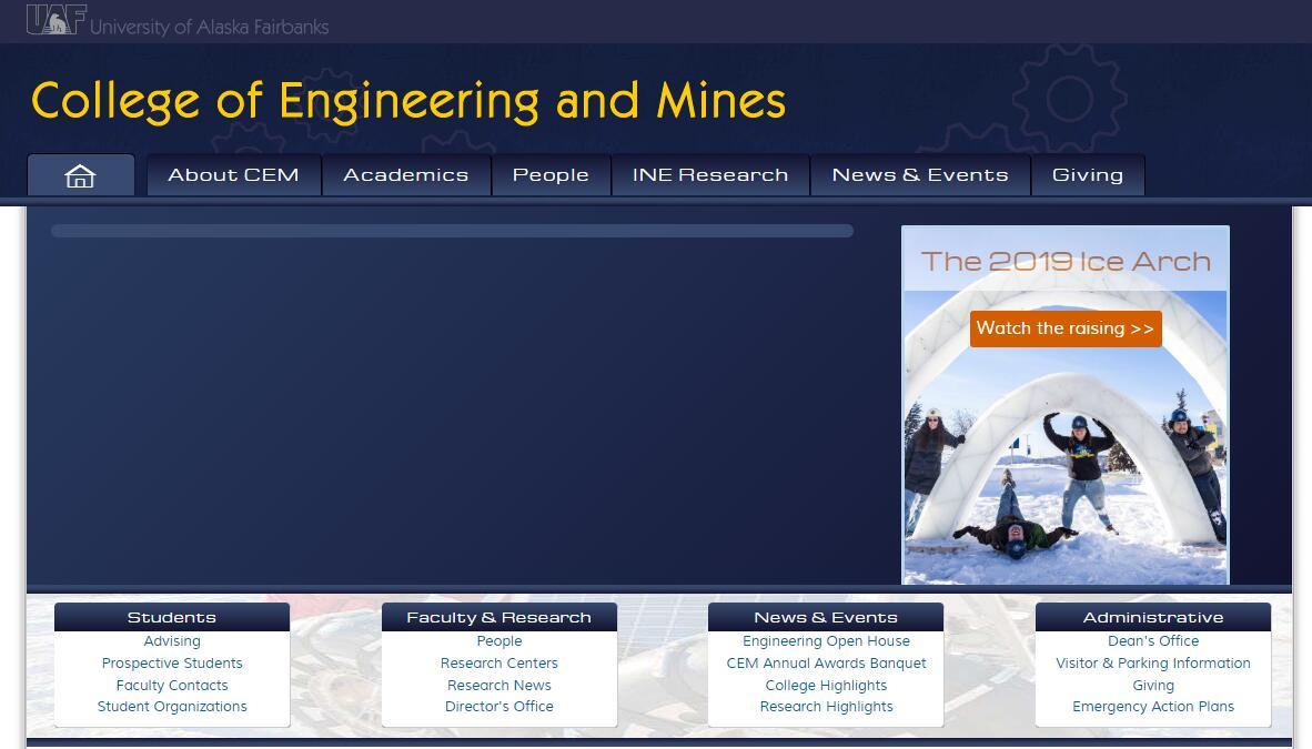The College of Engineering and Mines at University of Alaska--Fairbanks