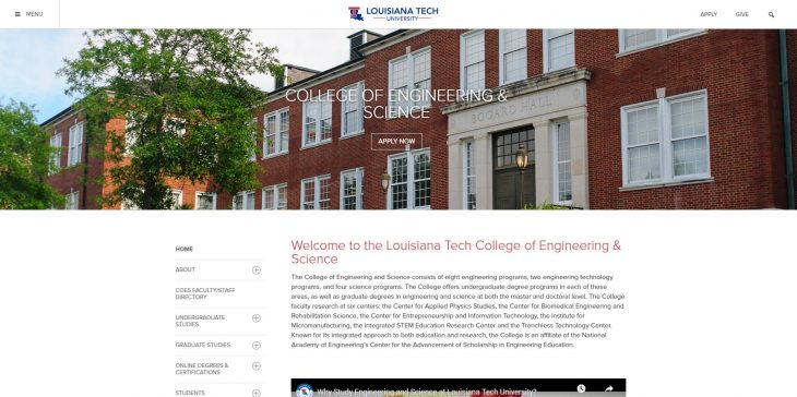 The College of Engineering and Science at Louisiana Tech University