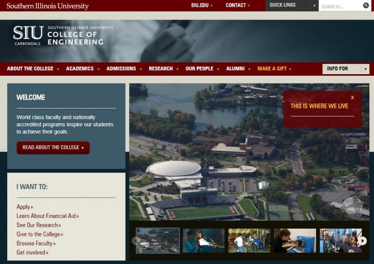 The College of Engineering at Southern Illinois University--Carbondale