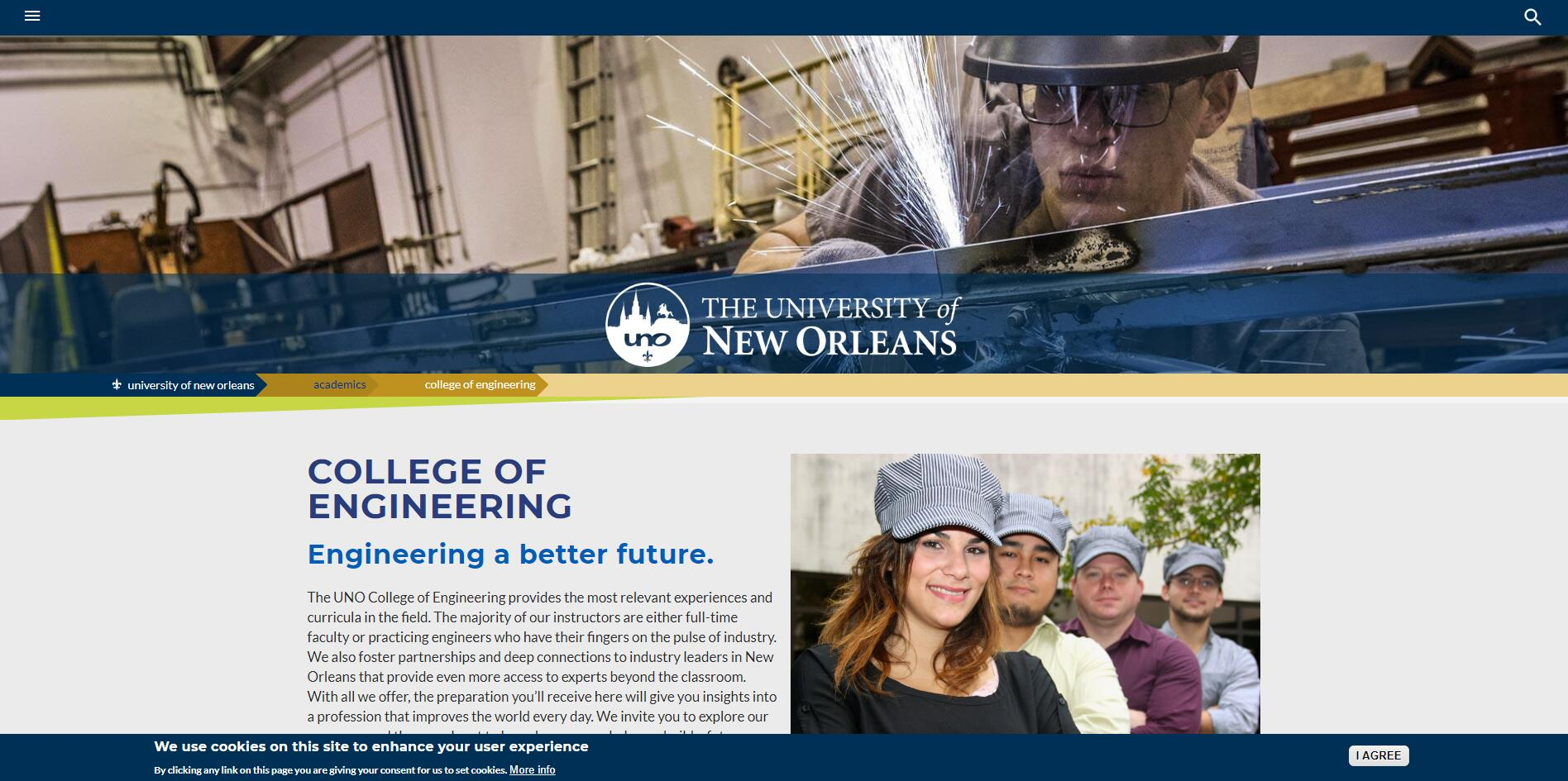 The College of Engineering at University of New Orleans