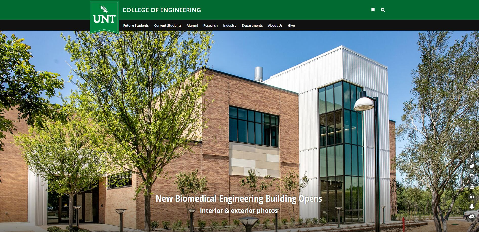 The College of Engineering at University of North Texas