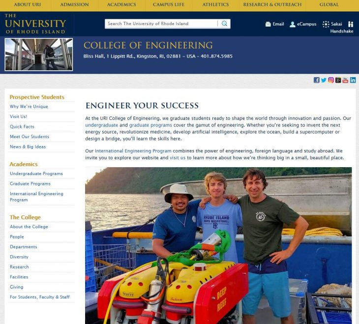 The College of Engineering at University of Rhode Island