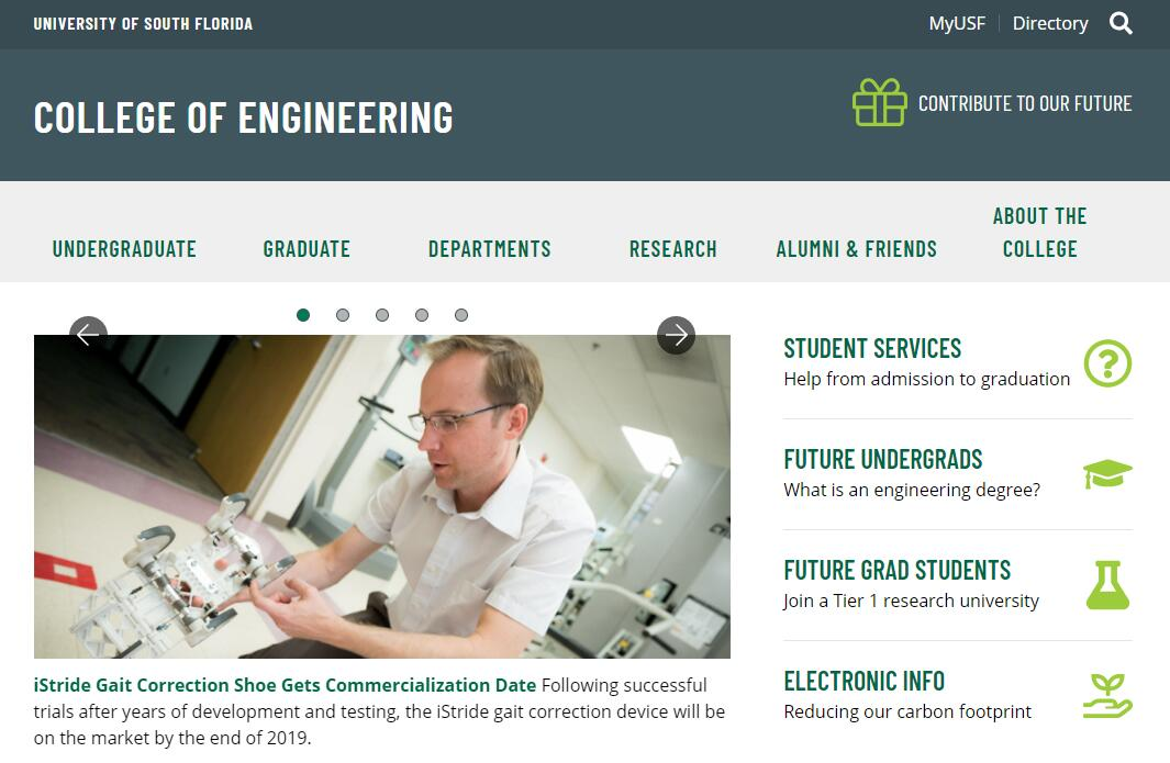 The College of Engineering at University of South Florida