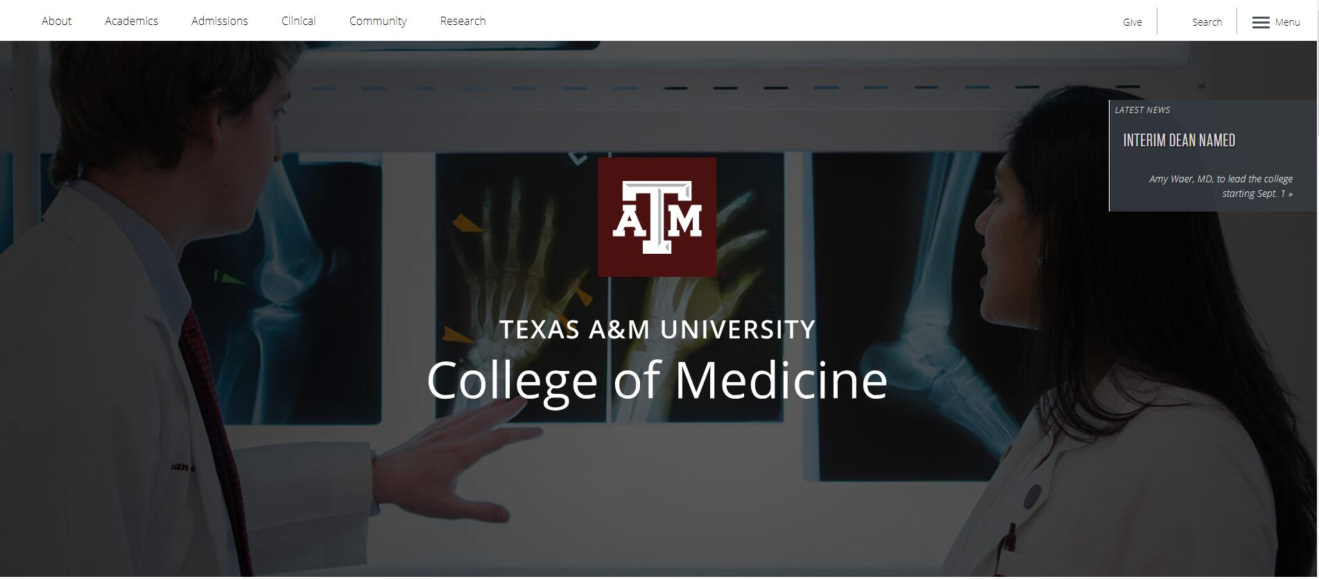 The College of Medicine at Texas A&M Health Science Center Admissions Statistics and Rankings